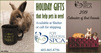 Holiday Gift That Help Pets In Need, Pope Memorial SPCA