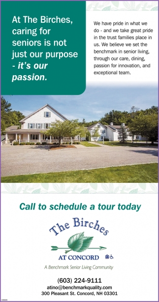 Call To Schedule A Tour Today