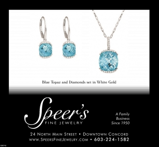 Blue Topaz And Diamond Set In White Gold