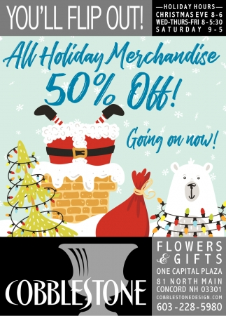 All Holiday Merchandise 50%