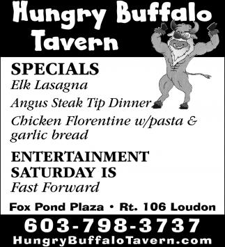 Specials Elk Lasagna