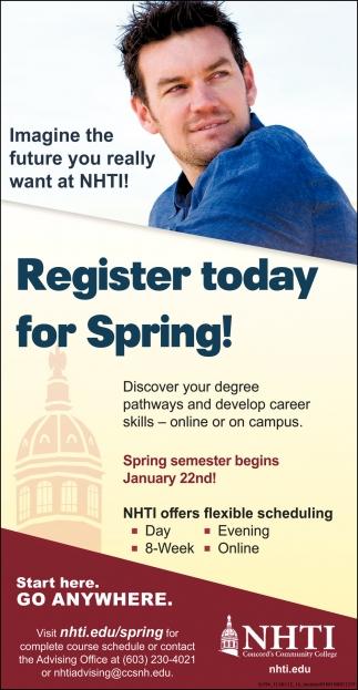 Register For Spring!