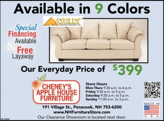 Available In 9 Colors Cheney S Apple House Furniture Concord Nh