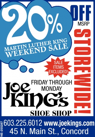 20% Martin Luther King Weekend Sale