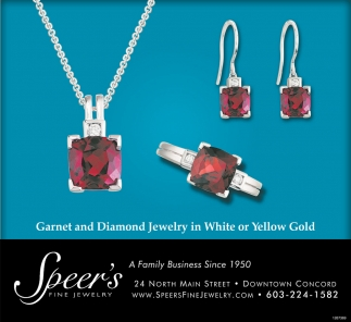 Garnet And Diamond Jewelry In White And Yellow Gold