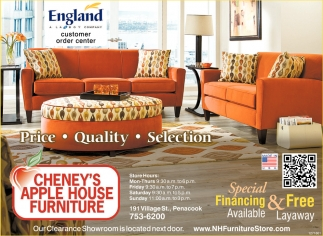 Special Financing Available Cheney S Apple House Furniture