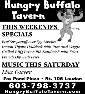 This Weekend's Specials