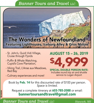 The Wonders Of Newfoundland