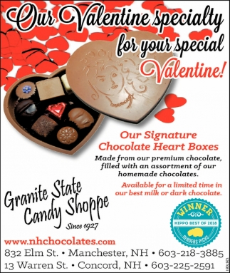 Our Valentine Specialty For Your Special Valentine!