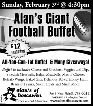 Football Buffet