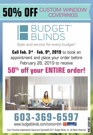 Custom Window Coverings Budget Blinds Concord