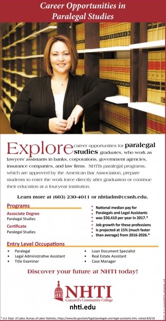 Career Opportunities In Paralegal Studies