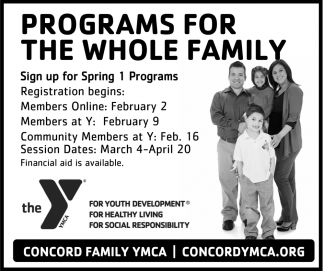 Programs For The Whole Family
