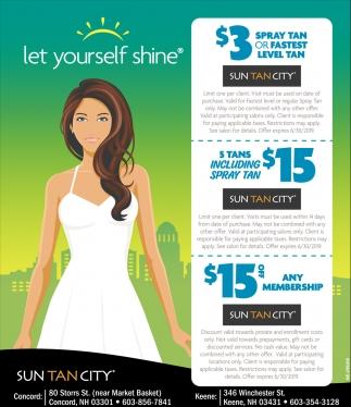 Let Yourself Shine Suntancity