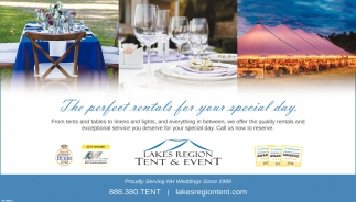 sc 1 st  Concord Monitor & The Perfect Rental For Your Special Day  Lake Region Tent u0026 Event