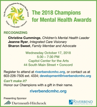 The 2018 Champions For Mental Health Awards