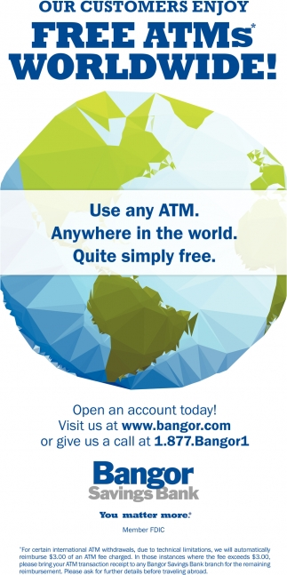 Free ATMs Worldwide!