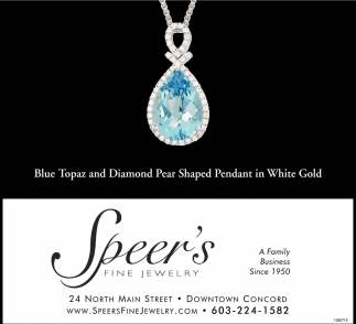 Blue Topaz And Diamond Pear