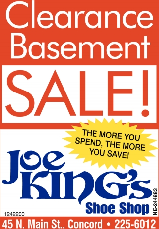 Clearance Basement Sale!