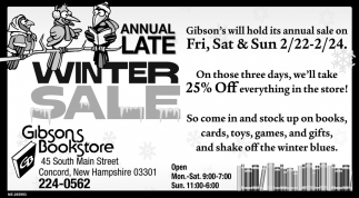 Annual Late Winter Sale
