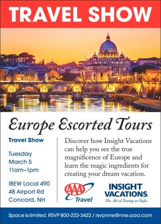 Europe Escorted Tours , AAA Travel, Concord, NH