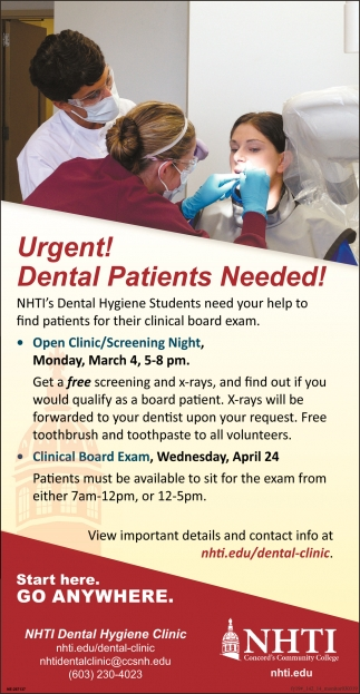 Dental Patients Needed!