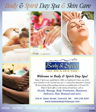 Welcome To Body & Spirit Day Spa