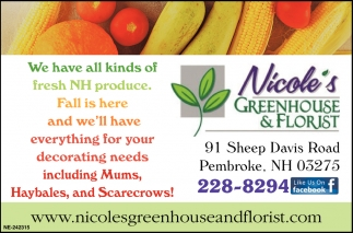 We Have All Kinds Of Fresh NH Produce