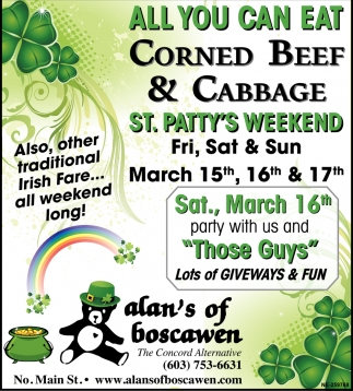 All You Can Eat Corned Beef & Cabbage