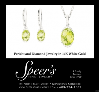 Peridot And Diamond Jewelry