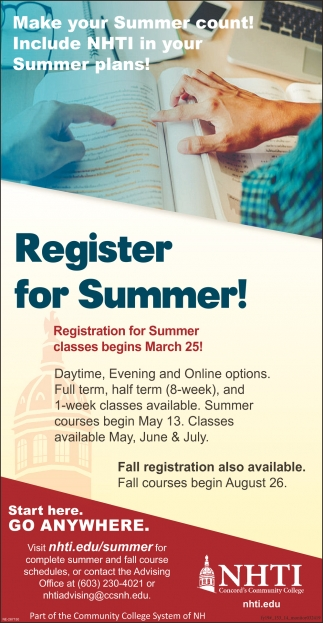 Register For Summer!