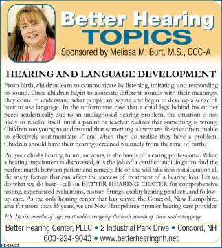 Hearing And Language Development