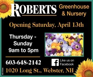 Opening Saturday