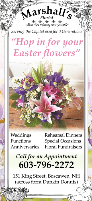 Hop In For Your Easter Flowers!