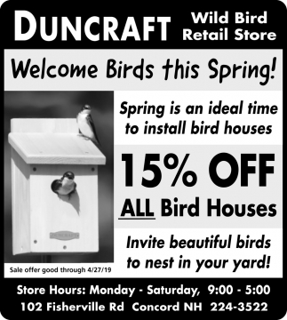 Welcome Birds This Spring!
