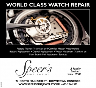 World Class Watches Repair