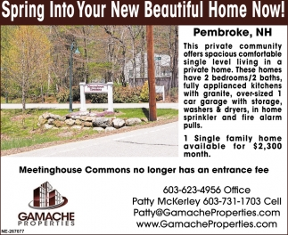 Spring Into Your New Beautiful Home Now!