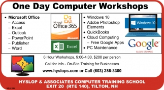 One Day Computer Workshops