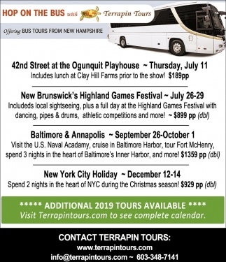 Hop On The Bus With Terrapin Tours