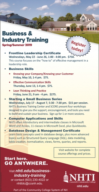 Business & Industry Training