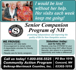 Senior Companion Program Of Nh