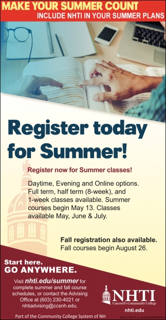 Register Today For Summer!