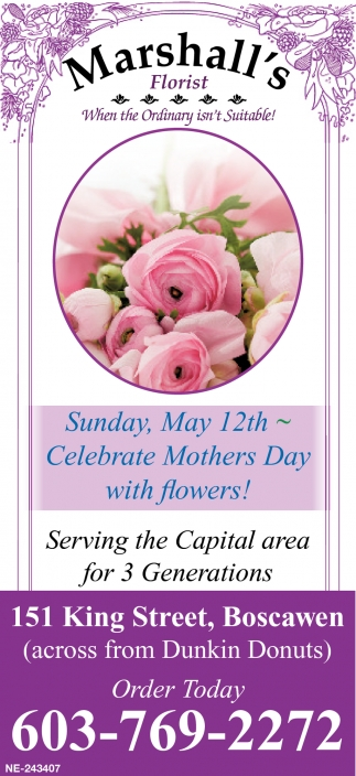 Celebrate Mothers Day With Flowers!
