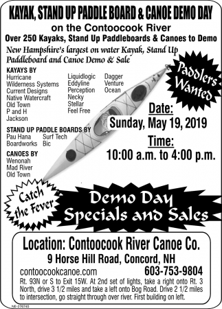 Demo Day Specials And Sales