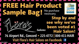 Free Hair Product Sample Bag!