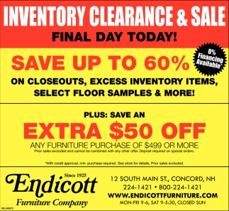 Inventory Clearance & Sale