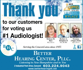 #1 Audiologist!