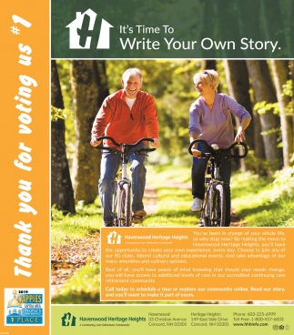 It's Time To Write Your Own Story , Havenwood Heritage