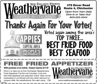 Best Fried Food Weathervane Seafood Restaurant Chichester Nh