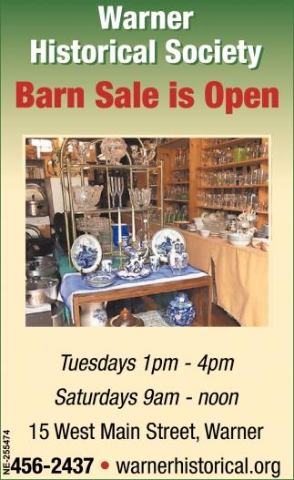 Barn Sale Is Open